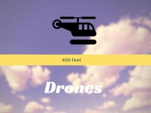drone and helicopter altitude diagram