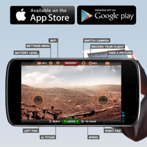 Parrot drone iOS controls