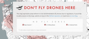 map of drone no fly zone