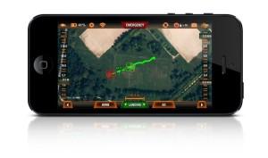 Drone app control screen