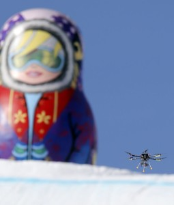 Drone filming skateboarder at sochi picture