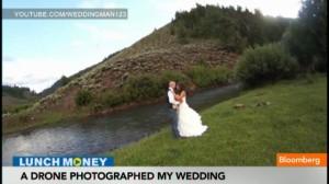 wedding photo taken by drone