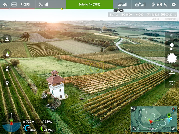 dji inspire 1 app screenshot