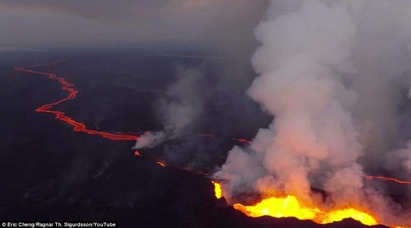 drone volcano photo
