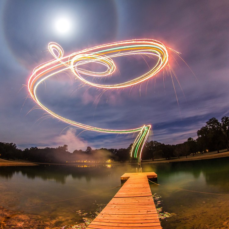 drone fireworks photography