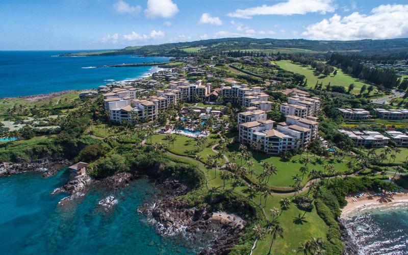 island drone photo