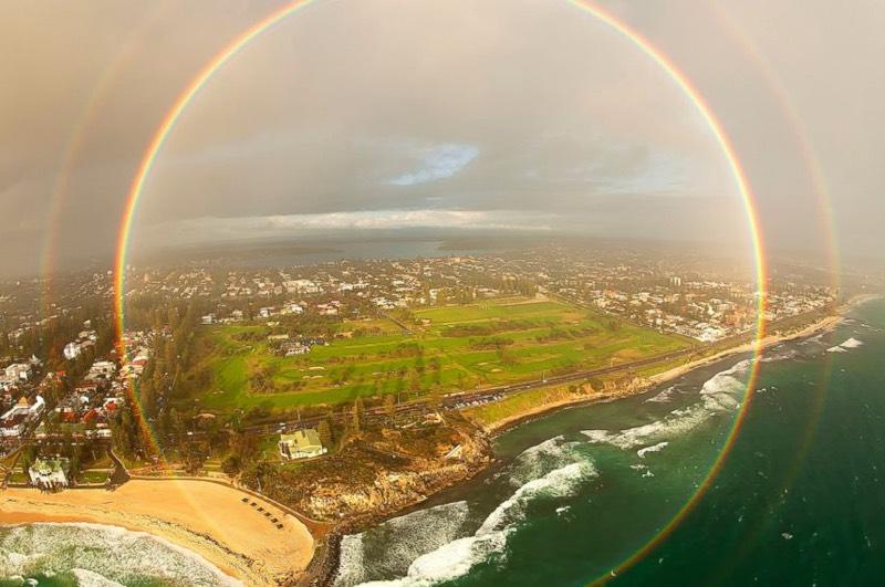 rainbow drone photo