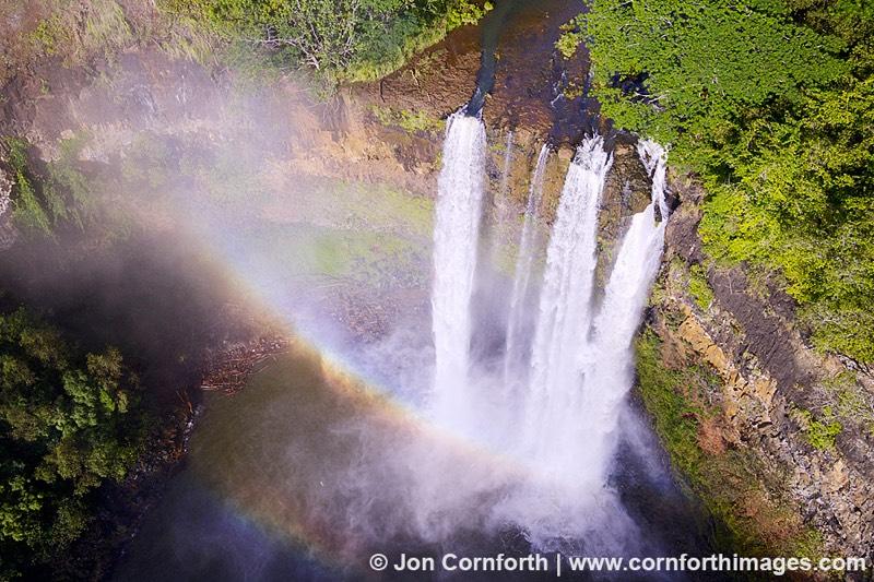 waterfall drone photo